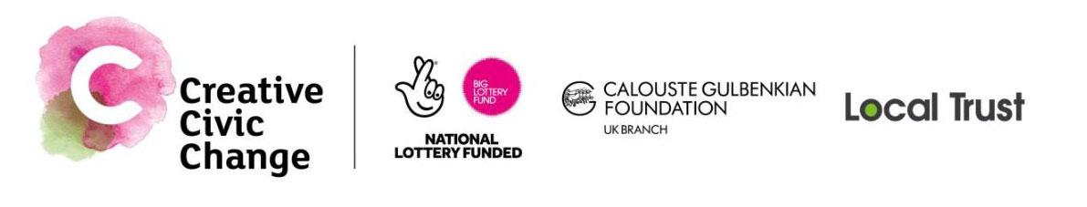 Creative Civic Change funding logos